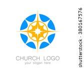 church logo    vector design... | Shutterstock .eps vector #380167576