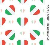 italy flag heart seamless... | Shutterstock .eps vector #380171722