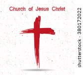 church of jesus christ logo.... | Shutterstock .eps vector #380172022
