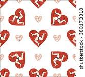 isle of man flag heart seamless ... | Shutterstock .eps vector #380173318