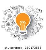 hand drawn business doodles set ...   Shutterstock .eps vector #380173858