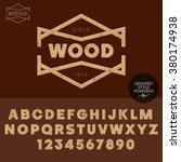 Wooden Logotype Wood Work And...