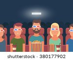 flat people sitting in the... | Shutterstock .eps vector #380177902