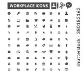 workplace icons | Shutterstock .eps vector #380182162