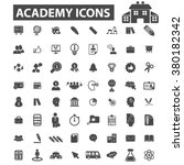 academy icons | Shutterstock .eps vector #380182342