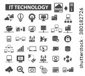 it technology icons | Shutterstock .eps vector #380182726