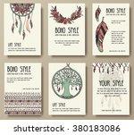 set of boho ornament... | Shutterstock .eps vector #380183086