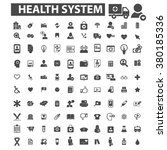 Постер, плакат: health system icons health