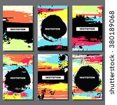 invitation card with ink grunge ... | Shutterstock .eps vector #380189068