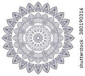 mandala. vintage decorative... | Shutterstock .eps vector #380190316