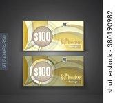 voucher  gift certificate ...   Shutterstock .eps vector #380190982