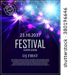 festival poster template with...   Shutterstock .eps vector #380196646