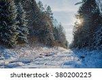 winter road forest | Shutterstock . vector #380200225