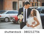beautiful bride on the... | Shutterstock . vector #380212756