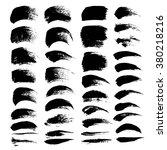abstract black textured strokes ... | Shutterstock .eps vector #380218216