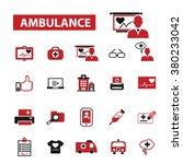 ambulance  emergency medicine ...   Shutterstock .eps vector #380233042