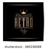 vintage label   Shutterstock .eps vector #380238088
