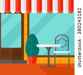 background of street cafe. | Shutterstock .eps vector #380243182