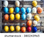 safety helmet engineering... | Shutterstock . vector #380243965