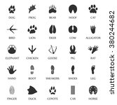 animal track prints set.  | Shutterstock .eps vector #380244682