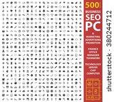 business icons set. | Shutterstock .eps vector #380244712