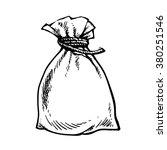 full sack. sack of money. sack ... | Shutterstock .eps vector #380251546