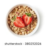bowl of whole grain muesli and... | Shutterstock . vector #380252026