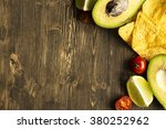 corn tortilla chips nachos and... | Shutterstock . vector #380252962
