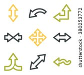 arrows web icons.  forward and...   Shutterstock .eps vector #380253772