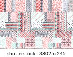 quilting  patchwork  embroidery ... | Shutterstock .eps vector #380255245