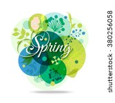 spring mood floral background.... | Shutterstock .eps vector #380256058