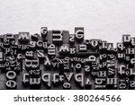 metal letterpress types. a... | Shutterstock . vector #380264566