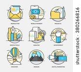 modern flat color line designed ... | Shutterstock .eps vector #380266816