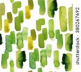 watercolor green pattern  | Shutterstock . vector #380267692
