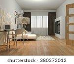 3d render of interior design... | Shutterstock . vector #380272012