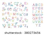 alphabet of a letter and icon... | Shutterstock .eps vector #380273656