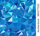 blue polygonal mosaic... | Shutterstock .eps vector #380277322