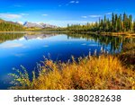 Fall reflection in Wrangell-St.Elias National Park, Alaska
