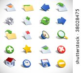 vector email icons. | Shutterstock .eps vector #38028475