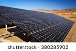 solar panels soak up the desert ... | Shutterstock . vector #380285902