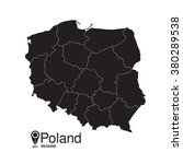 poland map regions | Shutterstock .eps vector #380289538