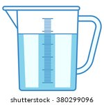 illustration of the measuring... | Shutterstock .eps vector #380299096