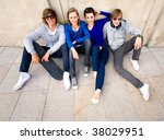 group of young friends | Shutterstock . vector #38029951