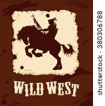 wild west background with... | Shutterstock .eps vector #380306788
