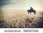 Lone Rider Horseman  Knight In...