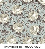 seamless classic pattern. roses.... | Shutterstock .eps vector #380307382