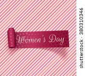 womens day realistic pink... | Shutterstock .eps vector #380310346