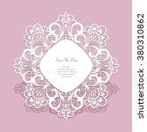round paper lace frame  lacy... | Shutterstock .eps vector #380310862
