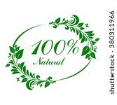 100   percent natural label.... | Shutterstock .eps vector #380311966