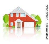 flat private residential... | Shutterstock .eps vector #380312032
